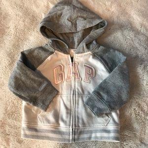 Gap - girls full zip logo hoodie, 12-18 mo